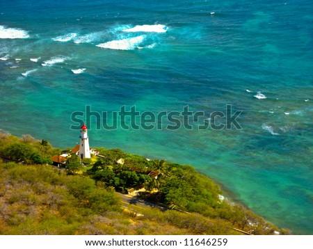 Lighthouse, Oahu - stock photo