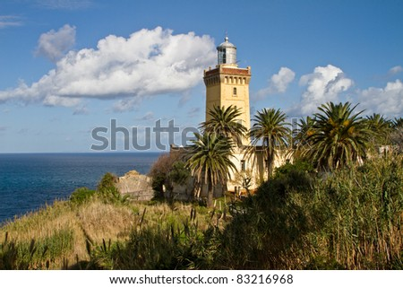Lighthouse of Cap Spartel, Tanger Morocco - stock photo