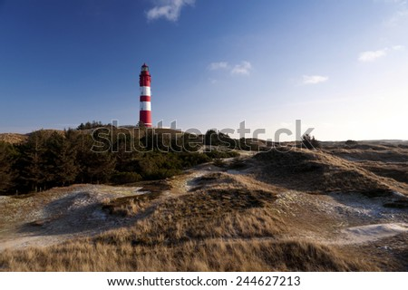 Lighthouse on Amrum - stock photo