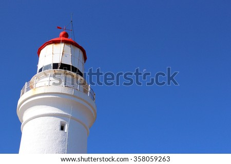 Lighthouse on Great Ocean Road  - stock photo