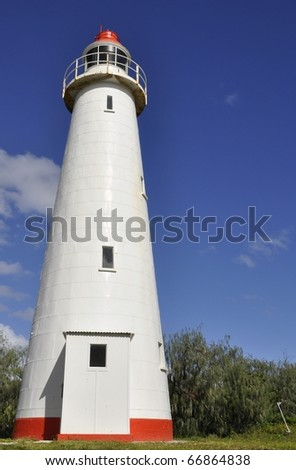 Lighthouse on Lady Elliot Island, Great Barrier Reef Australia - stock photo