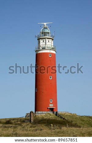 Lighthouse on Texel - stock photo