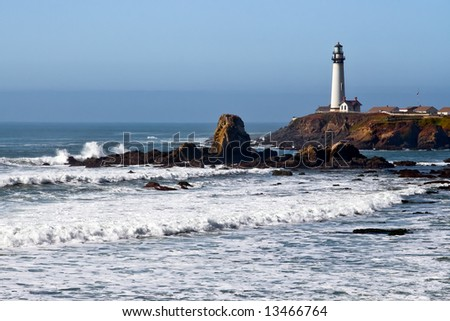 Lighthouse on the California Coast 2 - stock photo