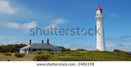 Lighthouse panorama - stock photo