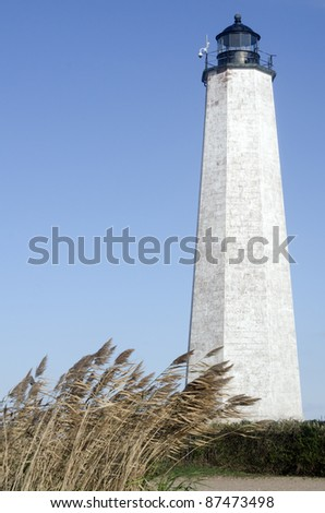 Lighthouse Point, New Haven, Connecticut - stock photo