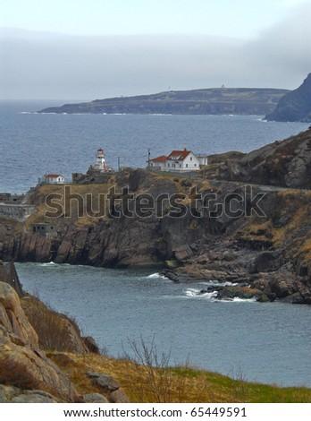 Lighthouse, St. Johns, Newfoundland, Canada - stock photo