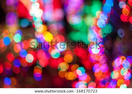 lighting bokeh - stock photo