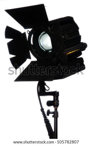Lighting equipment for shooting movie - stock photo