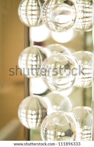 lighting fixture with round lamps - stock photo