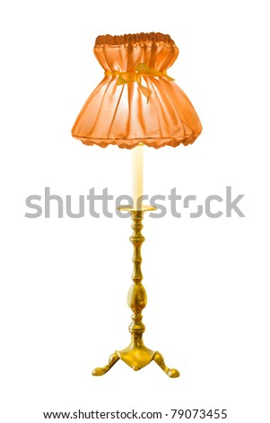 Lighting home lamp isolated on white background - stock photo