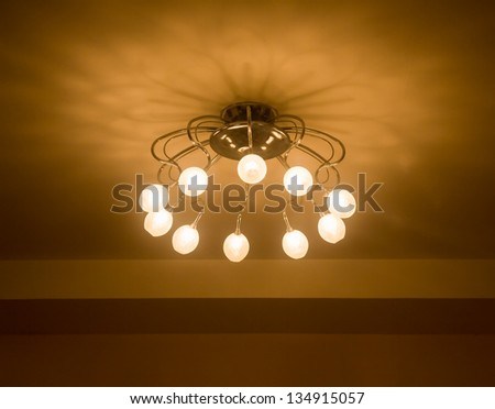 Lighting in the home. - stock photo