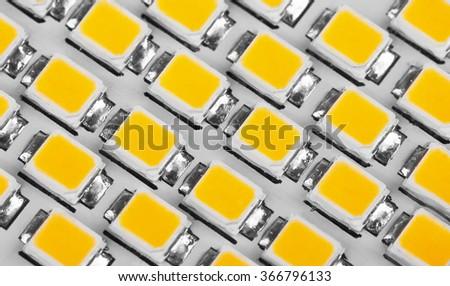 lighting LED panel, close-up - stock photo