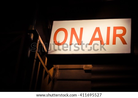 lighting of on air signboard-vintage style - stock photo