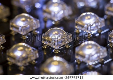 Lighting with superFLUX LED -small DOF - stock photo