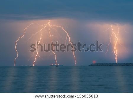lightning - stock photo