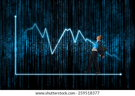 lightning bolt attack businessman,concepts for business, finance, stock market and financial market news - stock photo