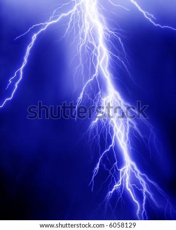Lightning flash - stock photo