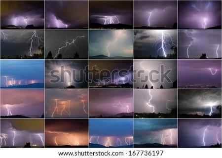lightning strike - stock photo