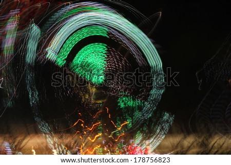 lights at the carniva - stock photo