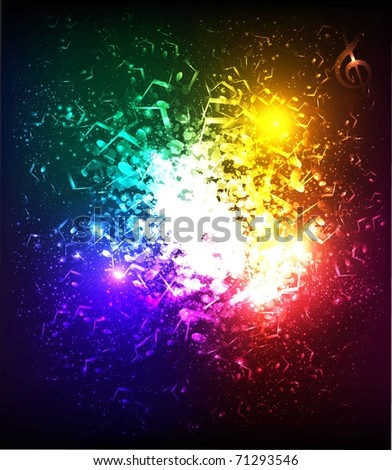 lights musical background - stock photo