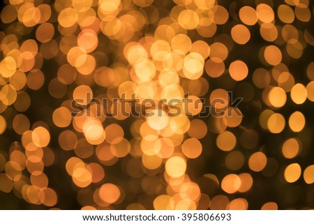lights of vivid yellow bokeh background - for your design  - stock photo