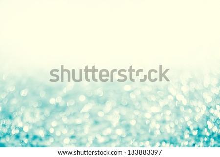 Lights on blue background.Christmas Lights - stock photo