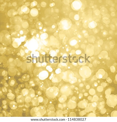 lights on golden background - stock photo