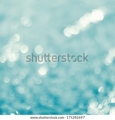 Lights on sea background.Waves.Un derwater.Vintage style. - stock photo