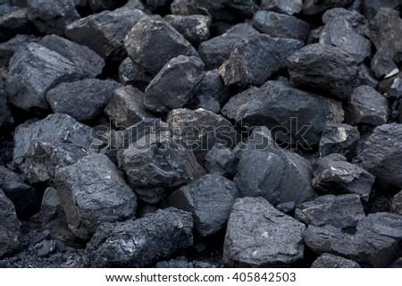 Lignite coal - coal - stock photo