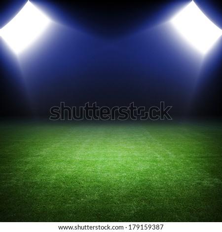 ligth of stadium - stock photo