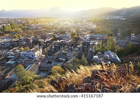 Lijiang Ancient City Yunnan Province - stock photo