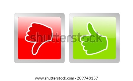 like and unlike icon - stock photo