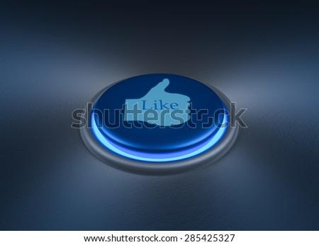 Like Button - stock photo