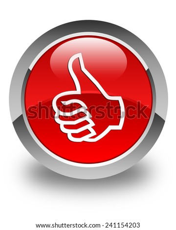 Like icon glossy red round button - stock photo