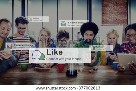 Like Share Social Media News Feed Concept - stock photo