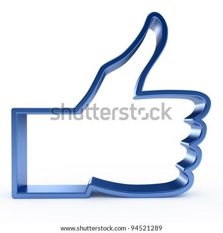 Like symbol on white background - stock photo