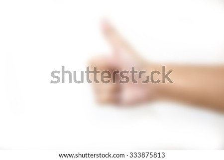 like thumbs up blur background - stock photo