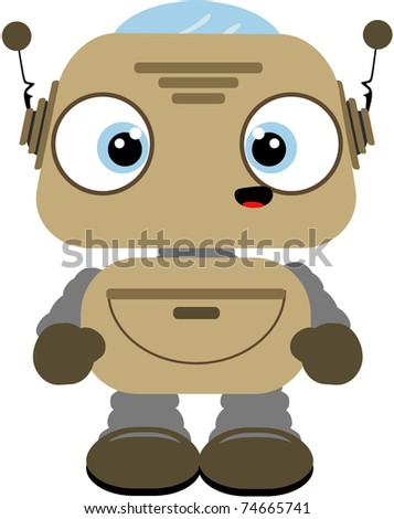 Lil robot - stock photo