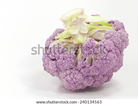 lilac cabbage - stock photo