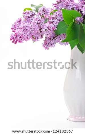 Lilac flower in vase - stock photo