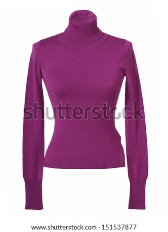 lilac sweater - stock photo