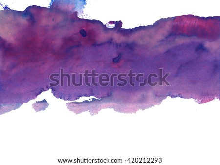 lilac-violet watercolor stain - stock photo