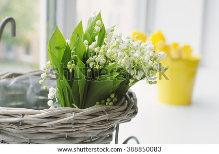 Lilies of the valley bouquet - stock photo