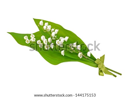 Lily of the Valley Posy - stock photo