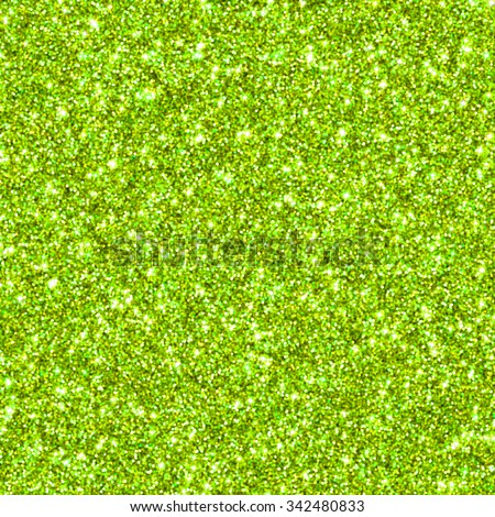 Lime green glitter for texture or background blur - stock photo