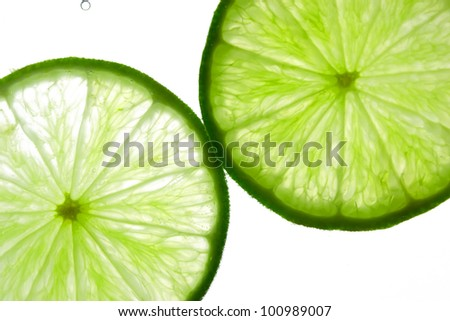 Lime in the water - stock photo