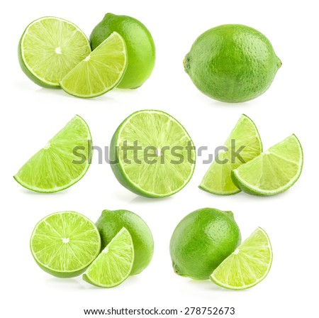 Lime isolated - stock photo
