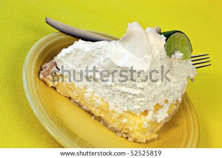 lime meringue pie - stock photo