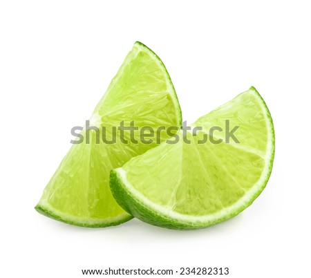lime slices isolated - stock photo
