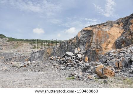 Limestone Quarry, Thailand - stock photo